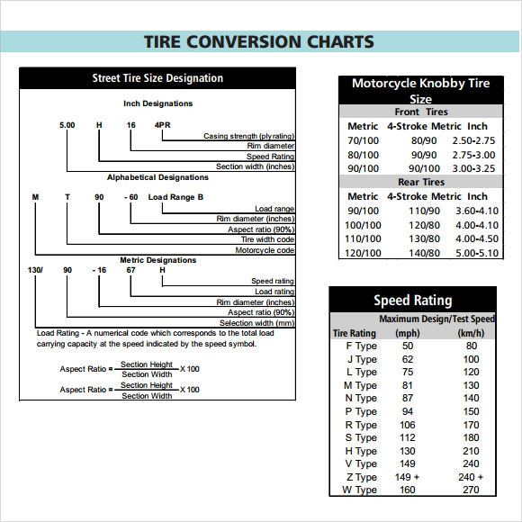 tire conversion chart 7 download documents in pdf sample templates