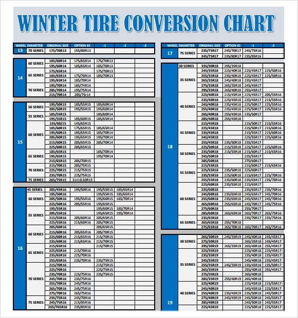 Equivalent Tire Size Chart