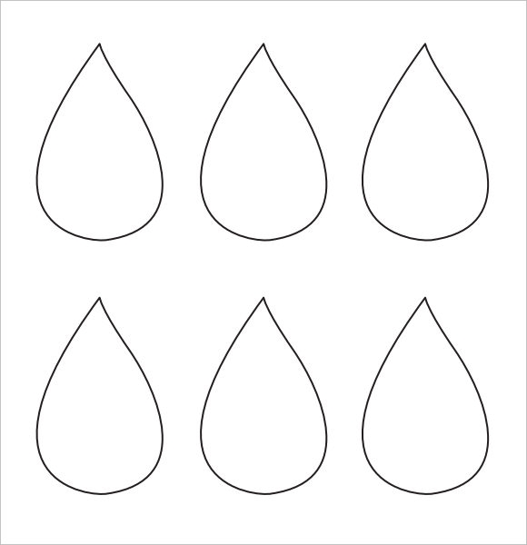 photo relating to Printable Raindrop titled Pattern Raindrop Template - 9+ Information Down load within just PDF
