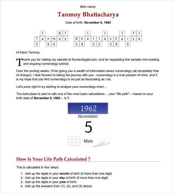Birth Year Chart | Apache OpenOffice Templates. Numerology ...