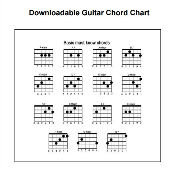 7 Sample Guitar Chord Charts Sample Templates