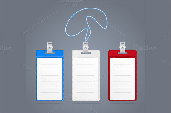 11 Id Badge Templates Psd Vector Eps