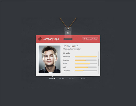 sample id badge template