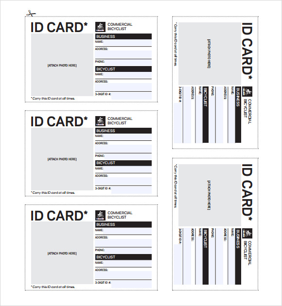 Id badges printable bing images for Id badge template free