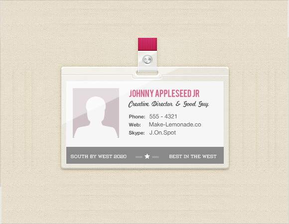 Sample Name Badge Template - 8+ Documents In Psd