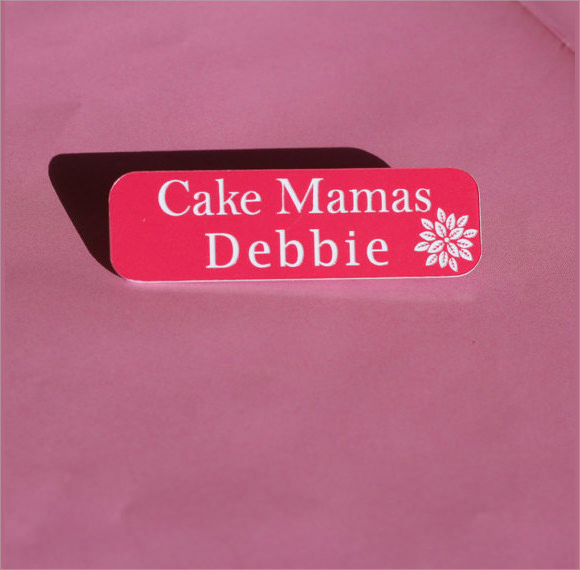 custom designed name badge template