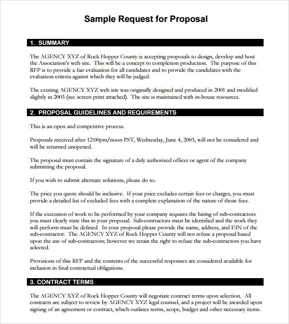 Rfp template 7 download documents in pdf word for Respond to rfp template
