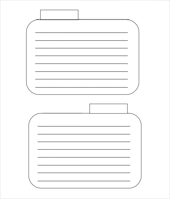 templates for index cards