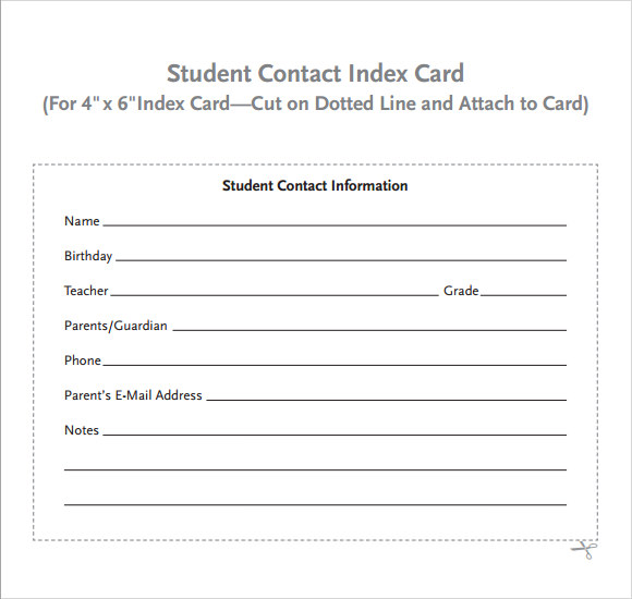 index card template 8 download free documents in pdf