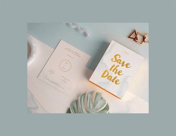 save the date card download