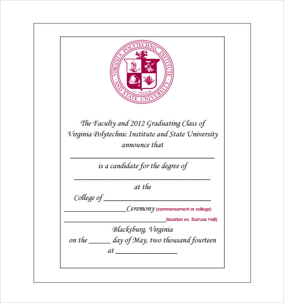 9 graduation announcement templates for free download