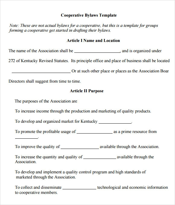 Free printable bylaws template tax form online for Llc bylaws template