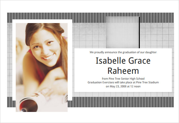 sample graduation announcement template