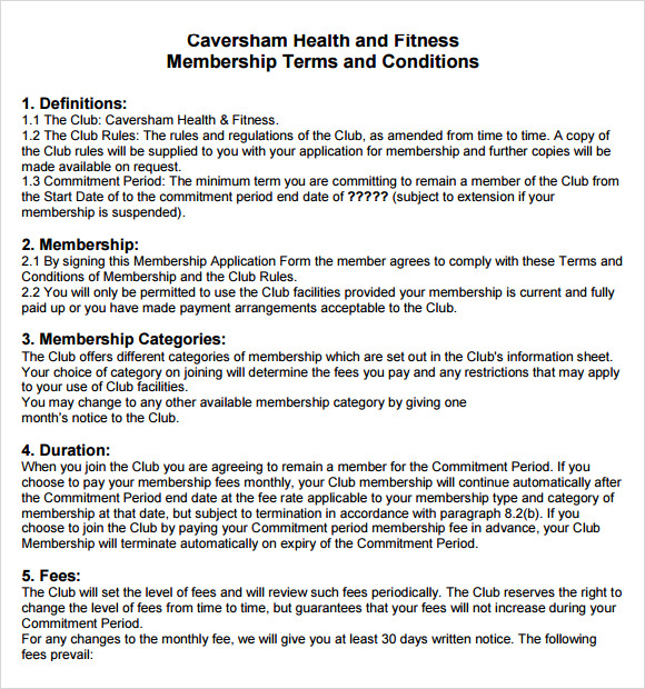 term and condition template 9 terms and conditions samples sample templates