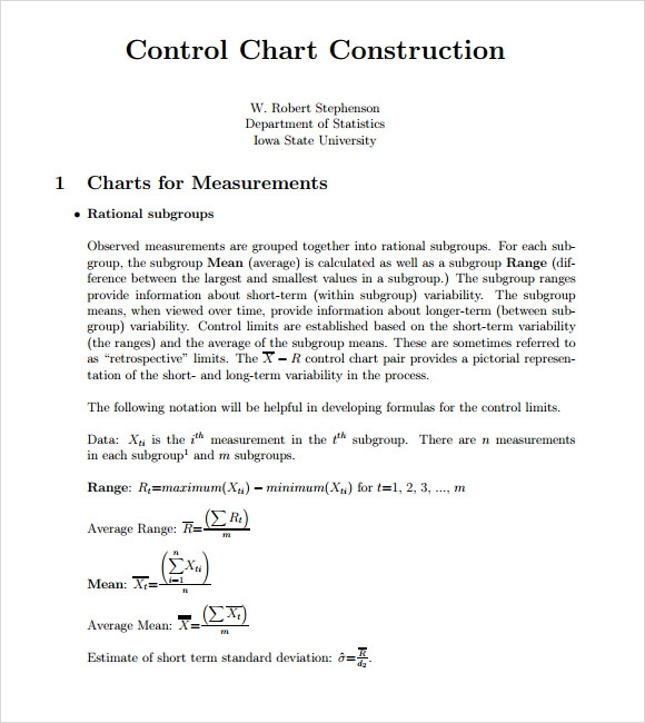 control chart construction