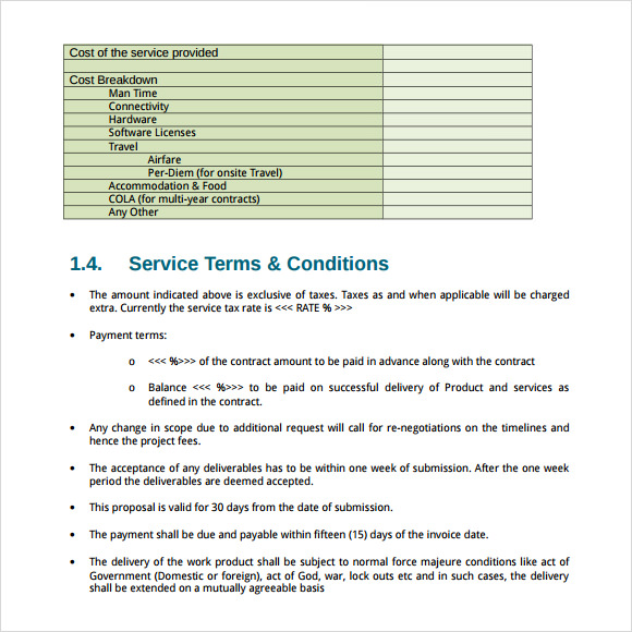 request for proposal template word