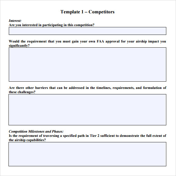 sample rfp response template