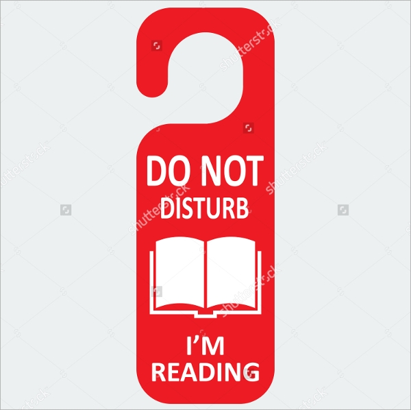 Do Not Disturb Education Door Hanger Template
