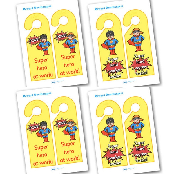 Education Door Hanger Templates Sample Templates - In session door hanger template