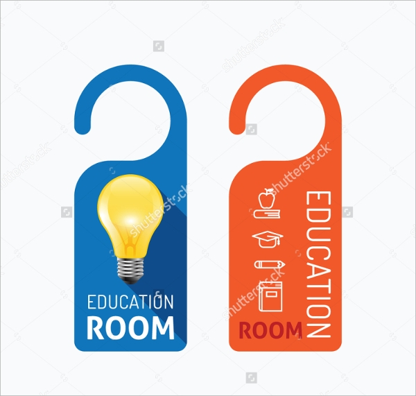 Education Door Hanger Templates  Psd Vector Illustrator