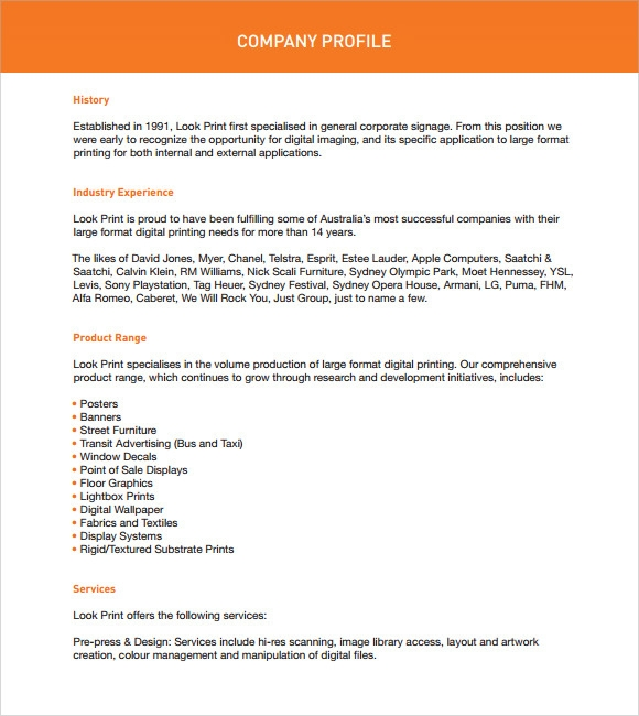 Doc741348 Company Profile Sample Download Doc741348 Company – Company Profile Template Microsoft