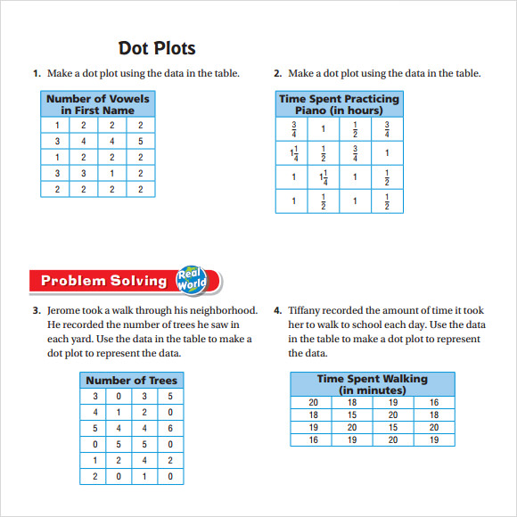 Sample Dot Plot Example   Documents In Word Pdf