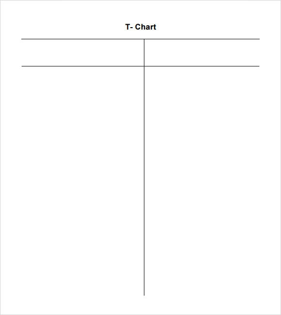 free printable t chart template images