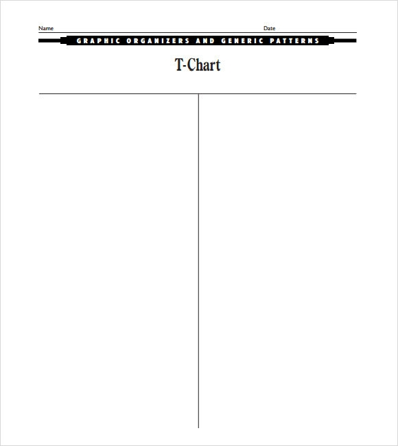 Doc464600 T Chart Printable Blank TChart Templates 70 – Blank T Chart