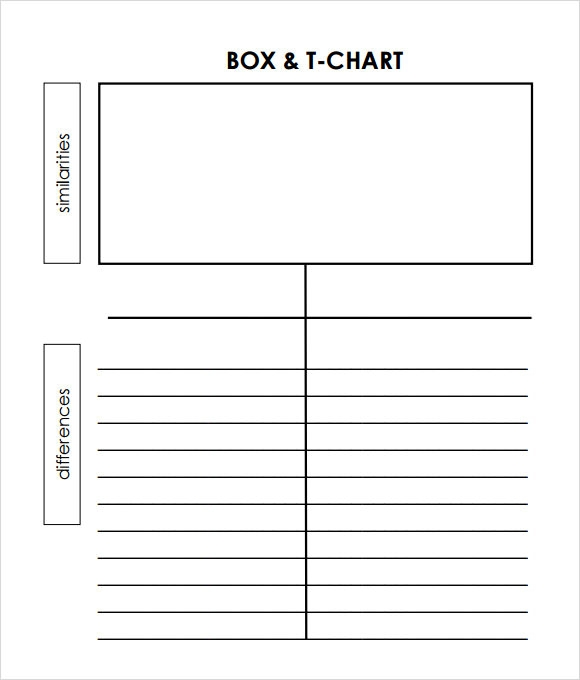 T Chart Printable. Make A Receipt Free T Chart In Microsoft Word