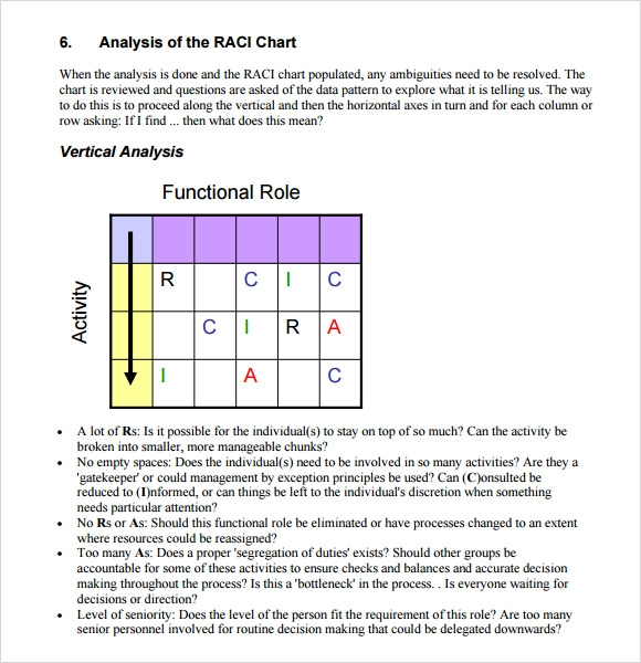 Sample Raci Chart 6 Free Documents In Pdf Word Excel