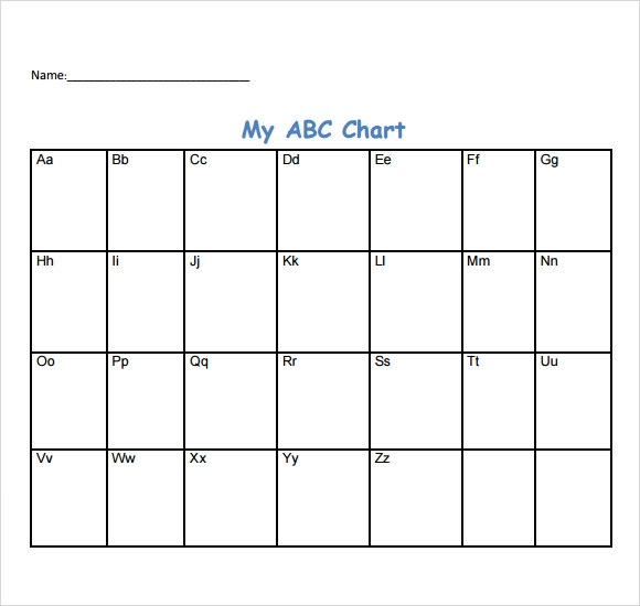 Sample Abc Chart   7+ Free Documents Download In Pdf
