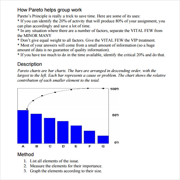 Sample Pareto Chart   Documents In Pdf Word Excel