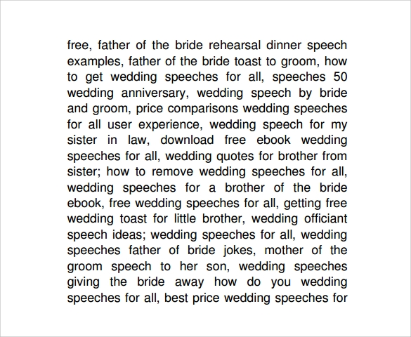 download father of the bride speech template