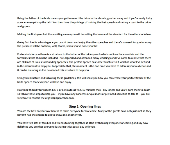 father of the bride speech template1
