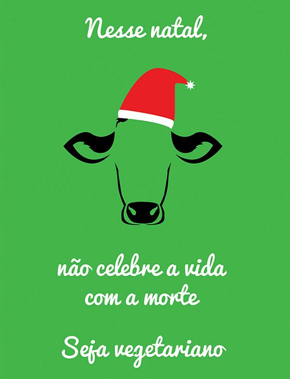 vegetarian christmas poster
