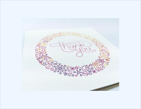 christmas printable thank you cards
