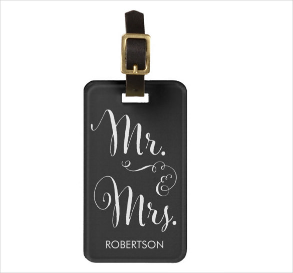 attractive luggage tag template