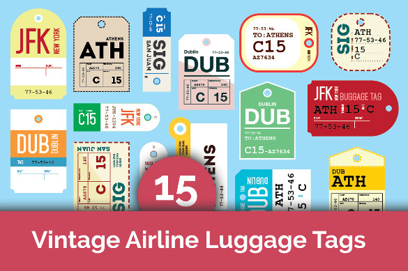 best luggage tag template