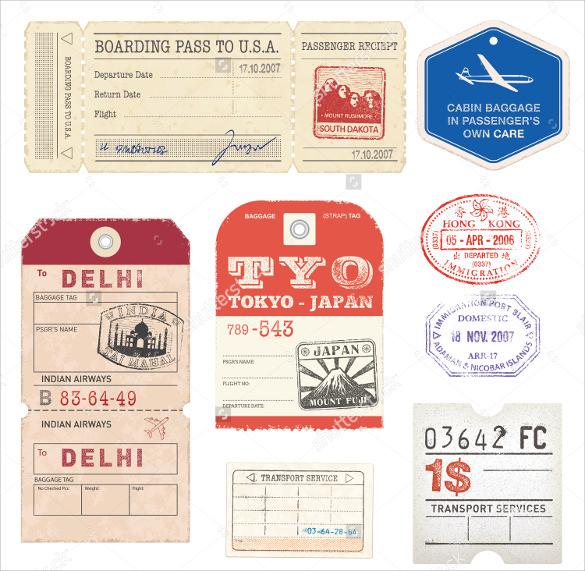 Sample Luggage Tag Template Example