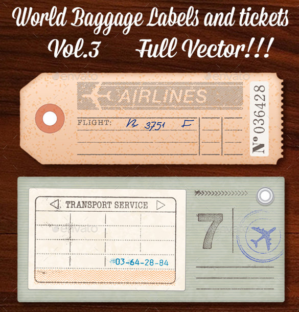 Luggage Tag Template Photoshop