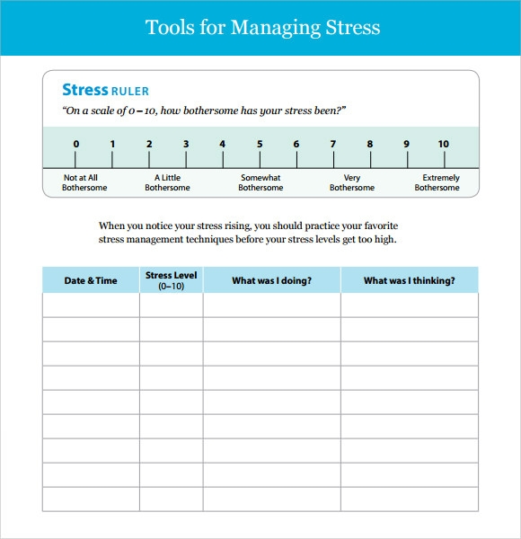 sample stress management chart