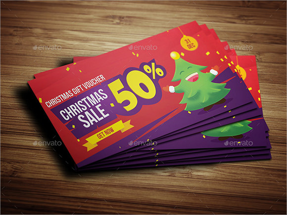 creative christmas voucher template