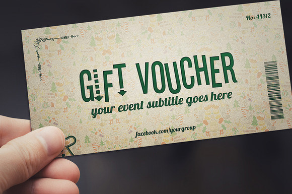christmas gift voucher template download