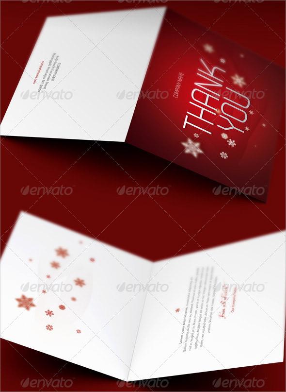 christmas thank you cards printable