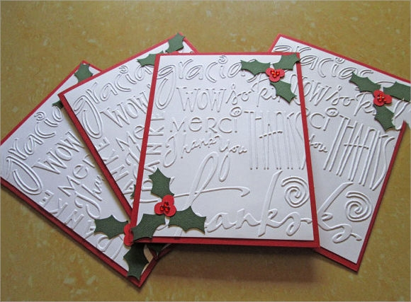 christmas thank you cards example