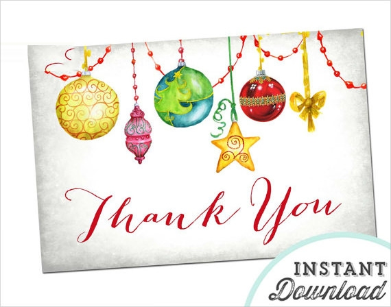 Christmas Thank You Cards 19 Download Documents in PSD Vector – Christmas Cards Sample