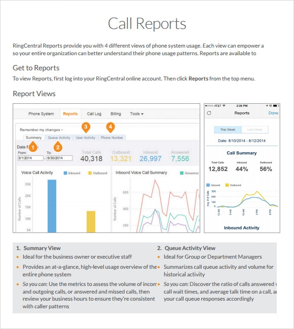 Sample Sales Call Report   Documents In Pdf