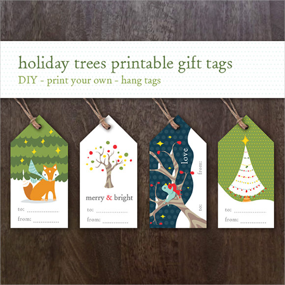sample christmas tag template