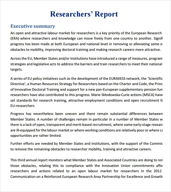 template for research report Here is a great template for writing a report on any kind of research once you study and collect all the necessary data on the specific topic simply download this.