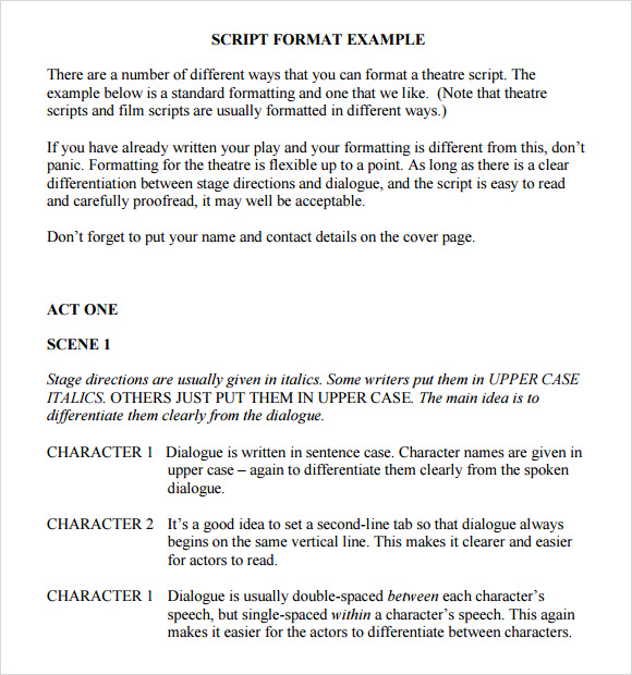 7+ Screenplay Outline Templates – DOC, Excel, PDF